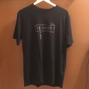NWT Mens Underarmour Black T-shirt Sz. Lg.